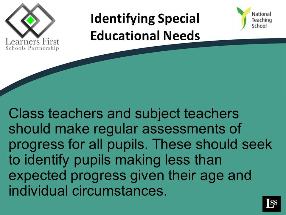 Identifying Special Educational Needs