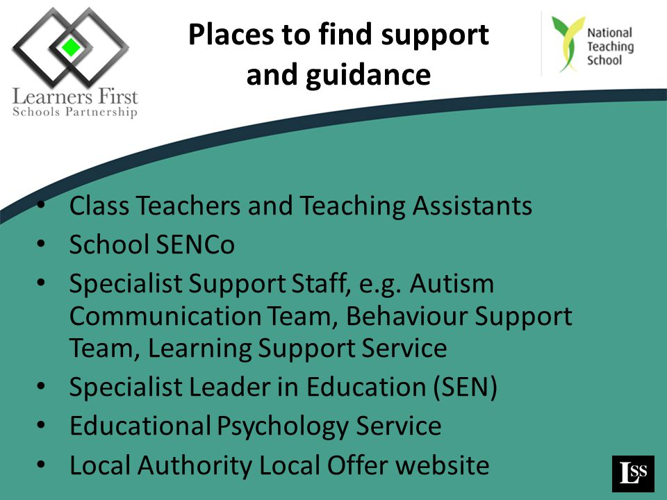 Places to find support and guidance