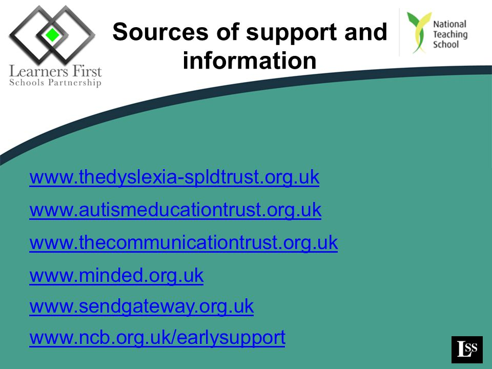 Sources of support and information