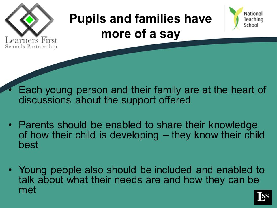 Pupils and families have more of a say