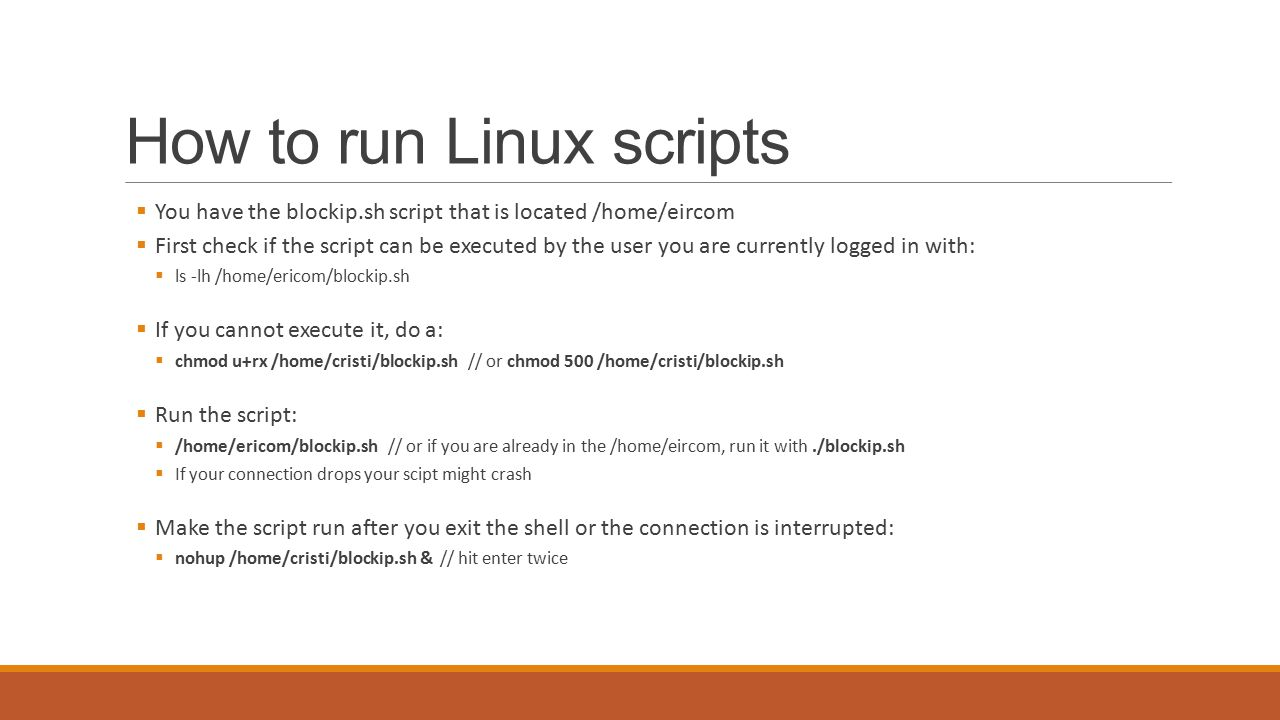 how to make a script in linux