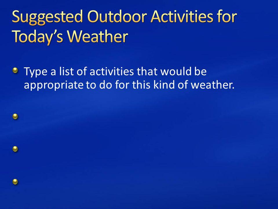 how to make a weather forecast powerpoint