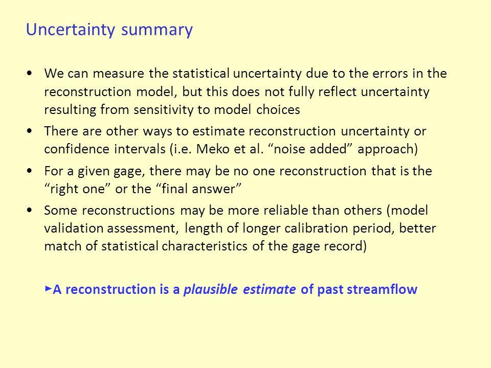 Uncertainty summary