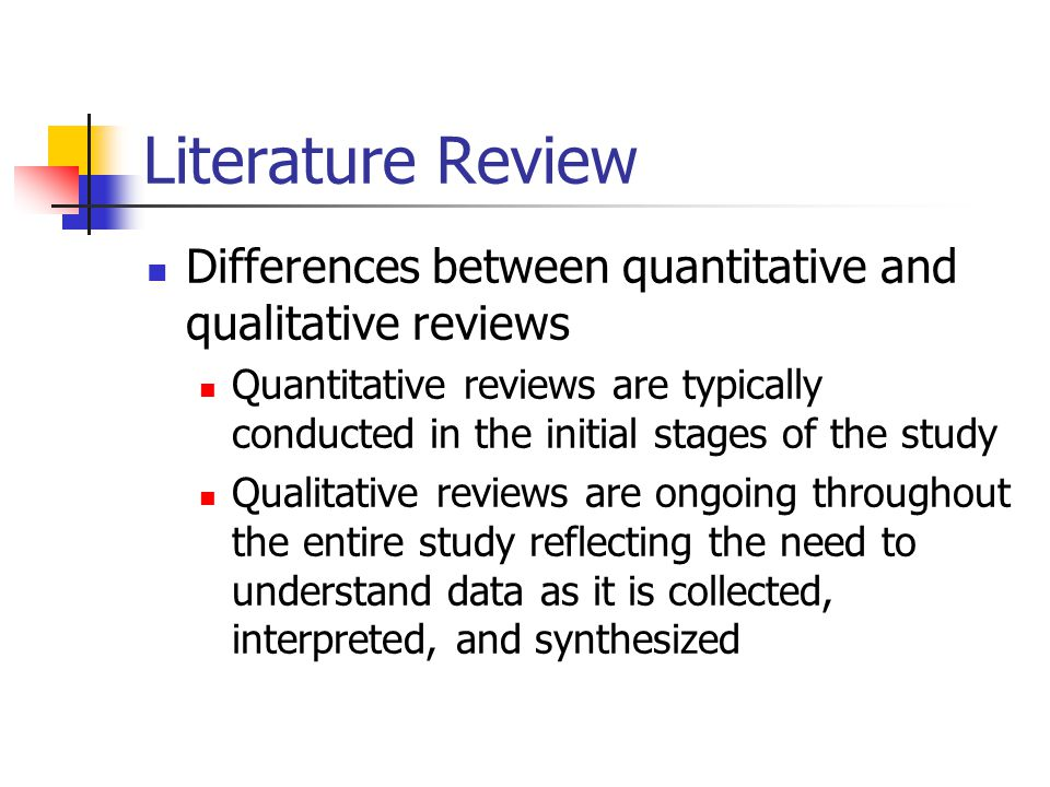 purpose of literature review in quantitative research