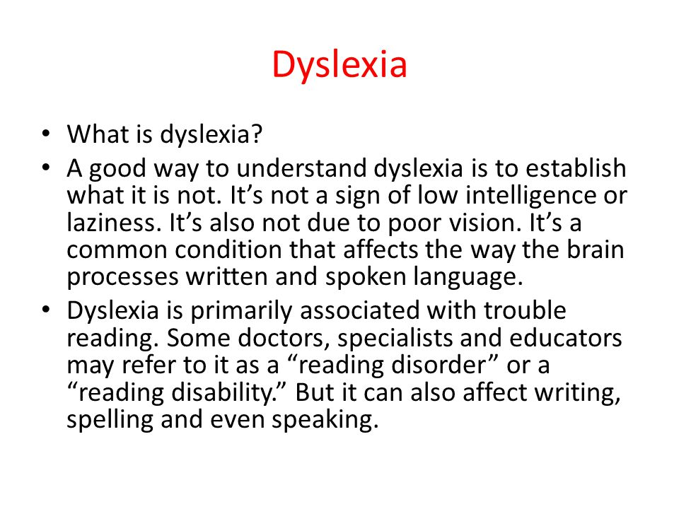 Can dyslexia affect writing a cover