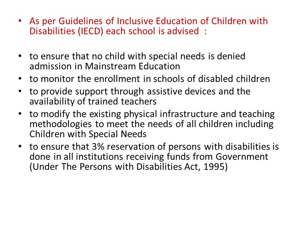 students with disabilities and special needs mainstream classes education essay School services for children with special needs:  the individuals with disabilities education act  and it prohibits discrimination against all such students.
