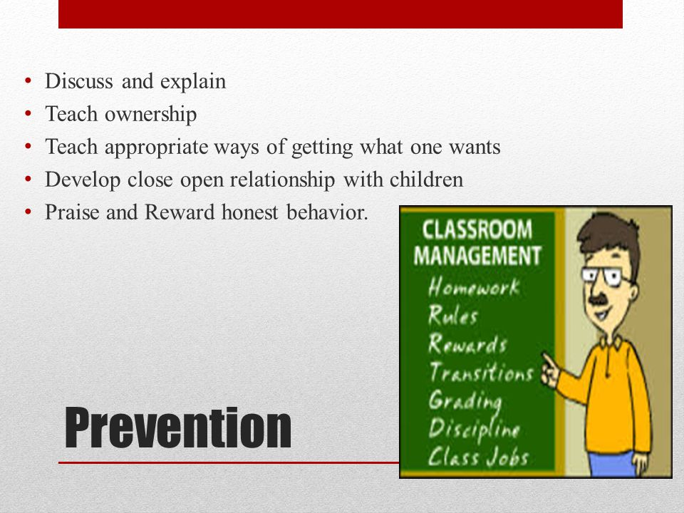 Prevention Discuss And Explain Teach Ownership
