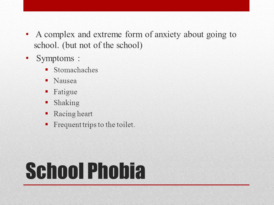 Behavioural problems in children ppt video online download for Phobia of going to the bathroom