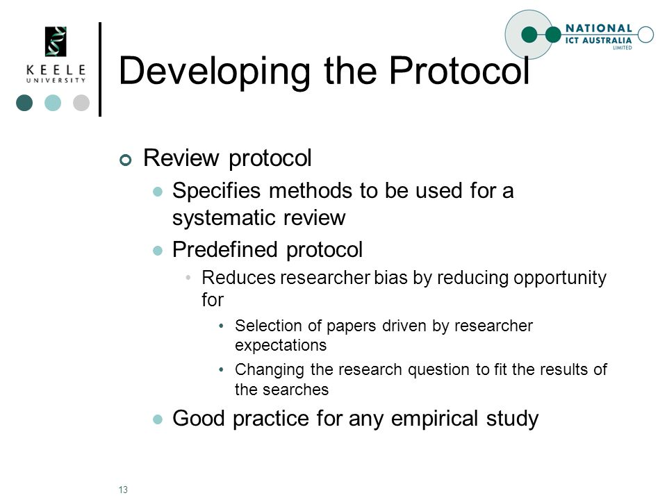 how to write a protocol for a systematic review