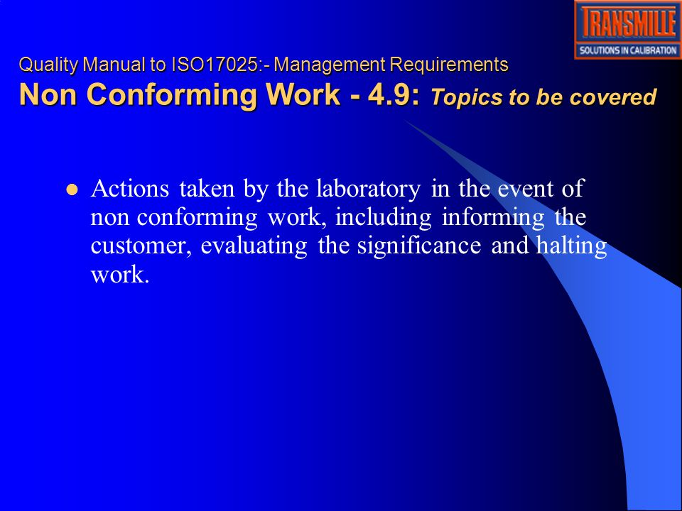 non conforming events essay Course outline introduction to nce management the laboratory quality management system and non-conforming events (nces) nurturing a culture of open communication.