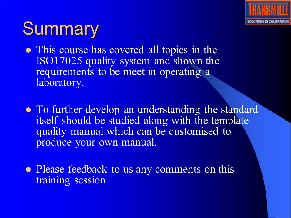 Transmille Training Quality System  Ppt Video Online Download