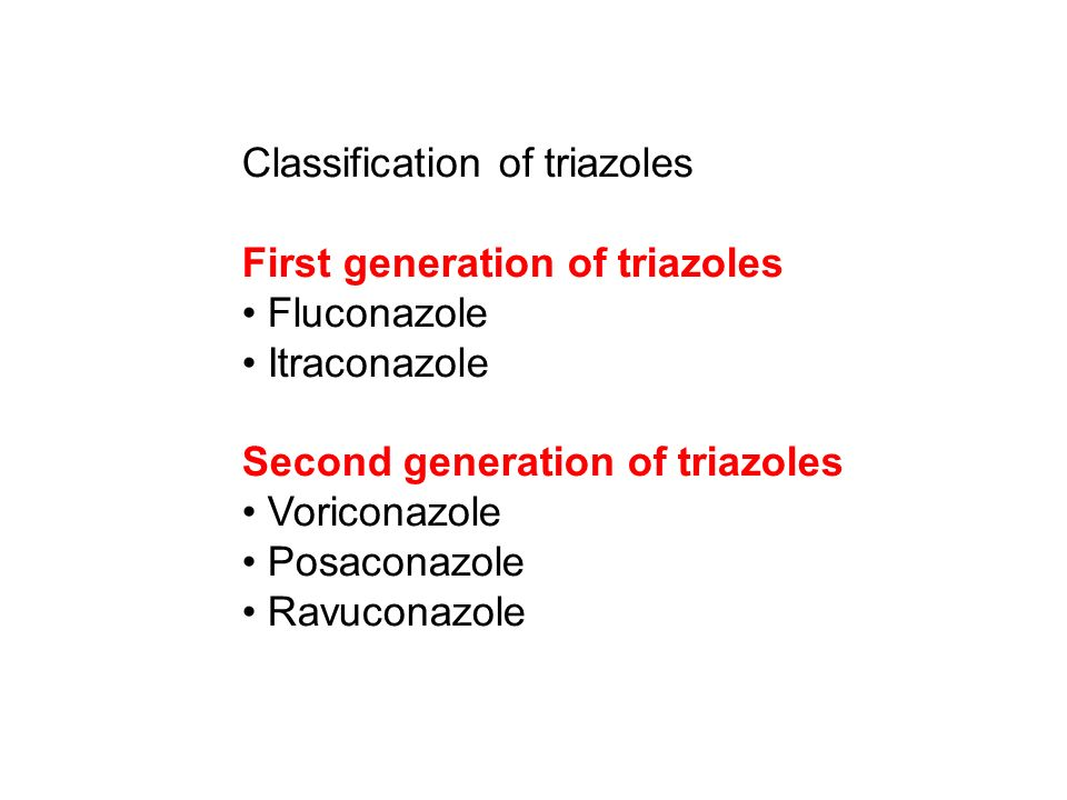 Classification of triazoles