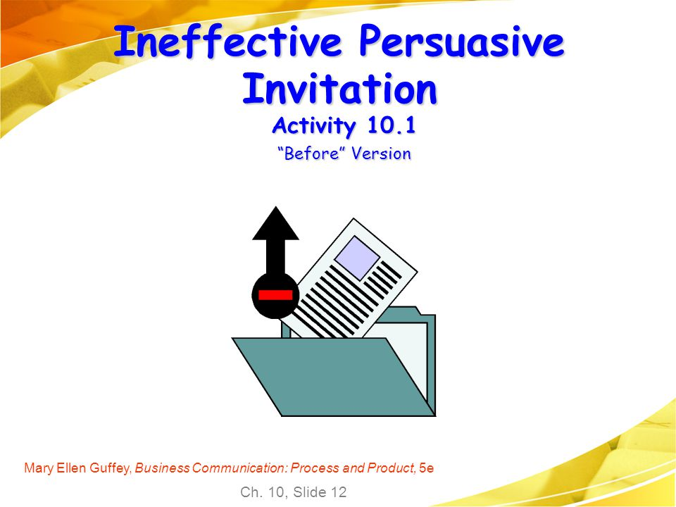 Chapter 10 sales and persuasive messages ppt download 12 ineffective persuasive invitation spiritdancerdesigns Gallery