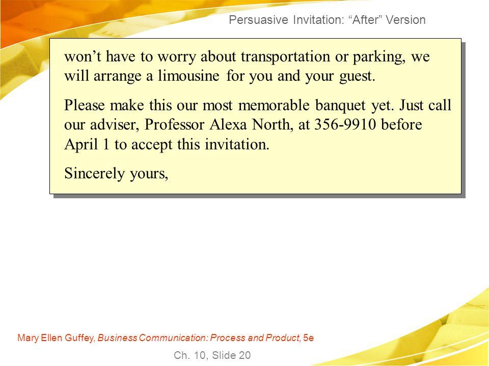 Persuasive Invitation: After Version