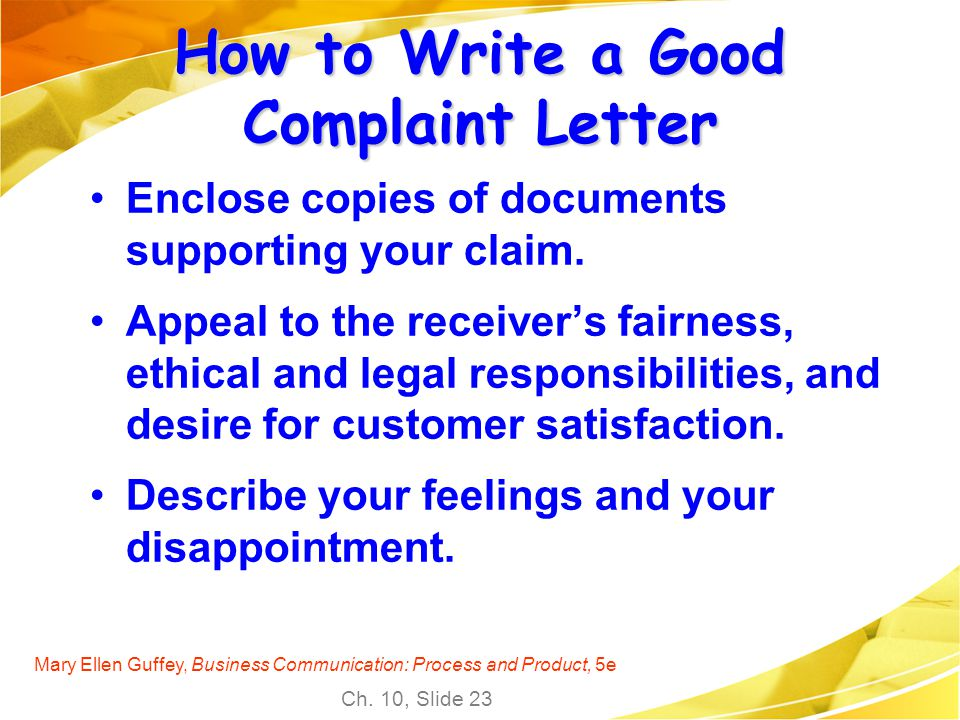 How to Write a Good Complaint Letter