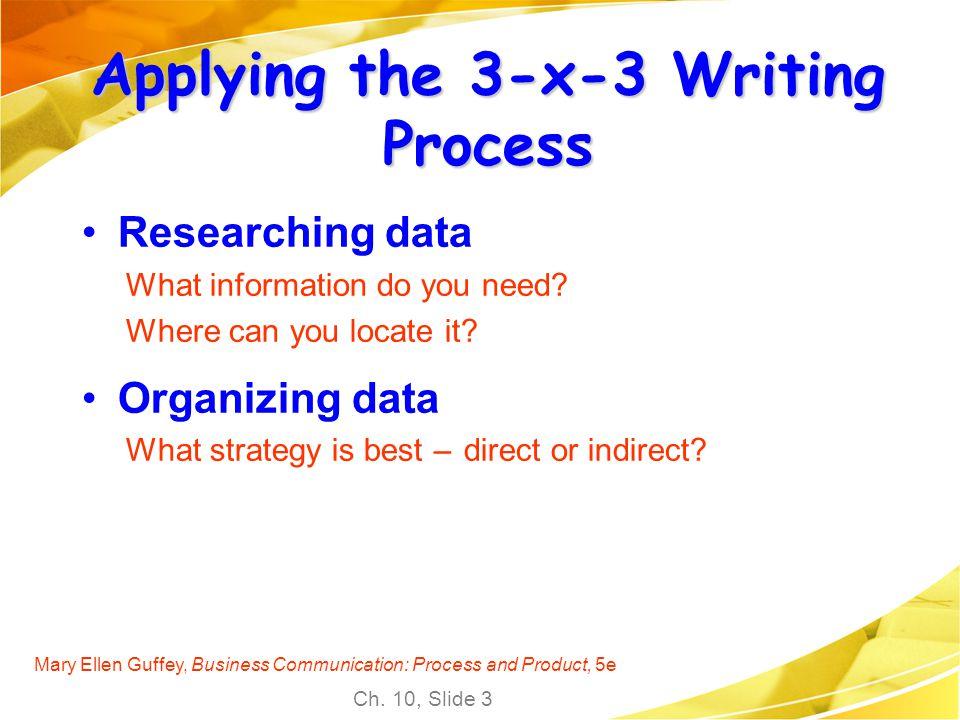 Applying the 3-x-3 Writing Process