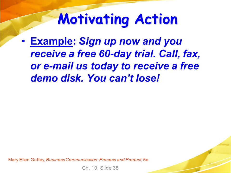 Motivating Action