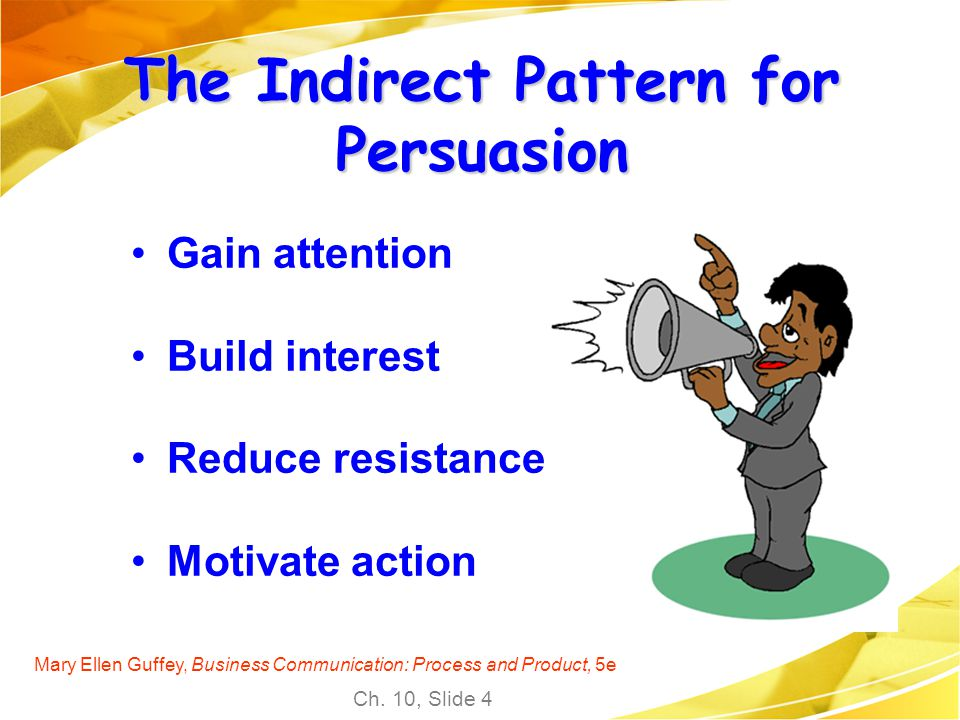 The Indirect Pattern for Persuasion