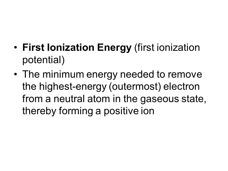 how to find element given ionization energies