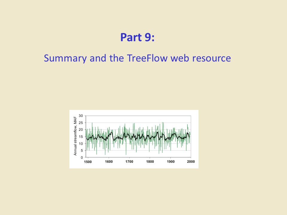 Summary and the TreeFlow web resource