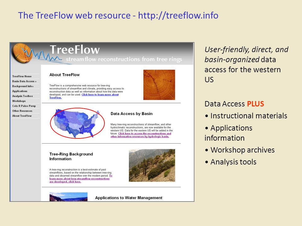 The TreeFlow web resource -