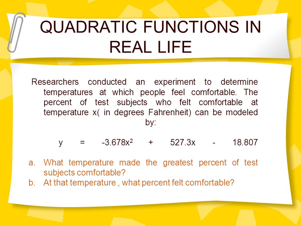 QUADRATIC FUNCTIONS Monika V Sikand Light and Life ...
