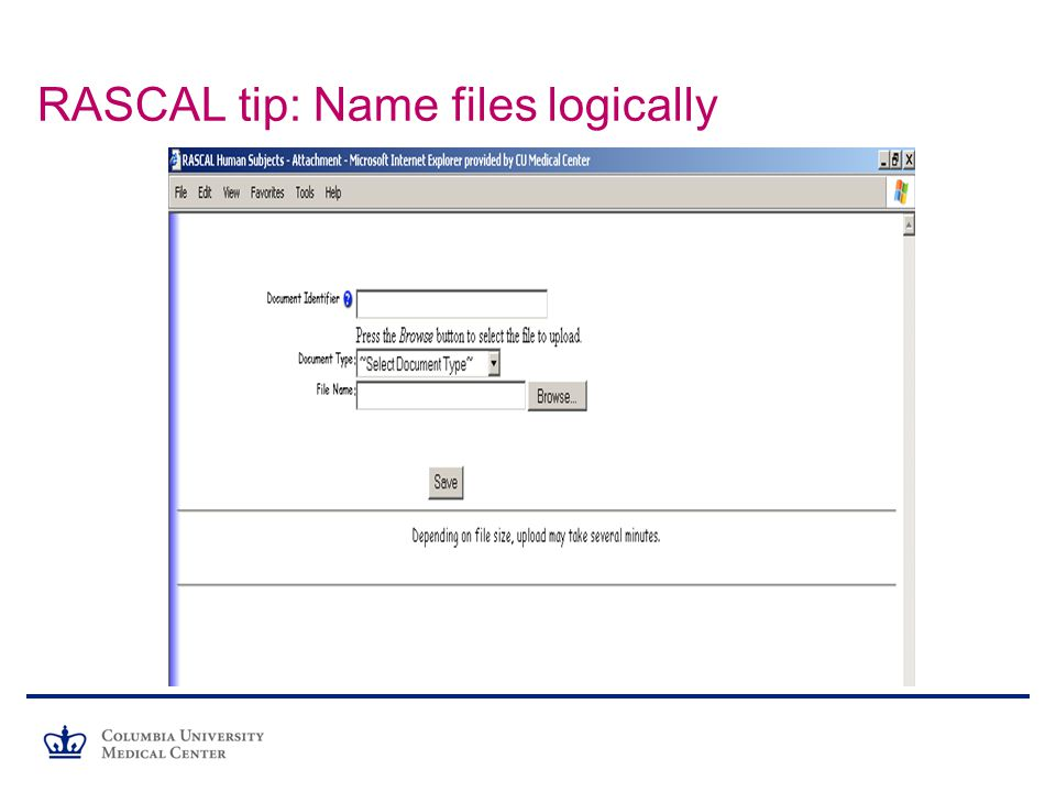 RASCAL tip: Name files logically