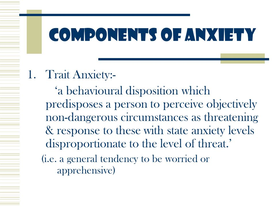 state and trait anxiety pdf