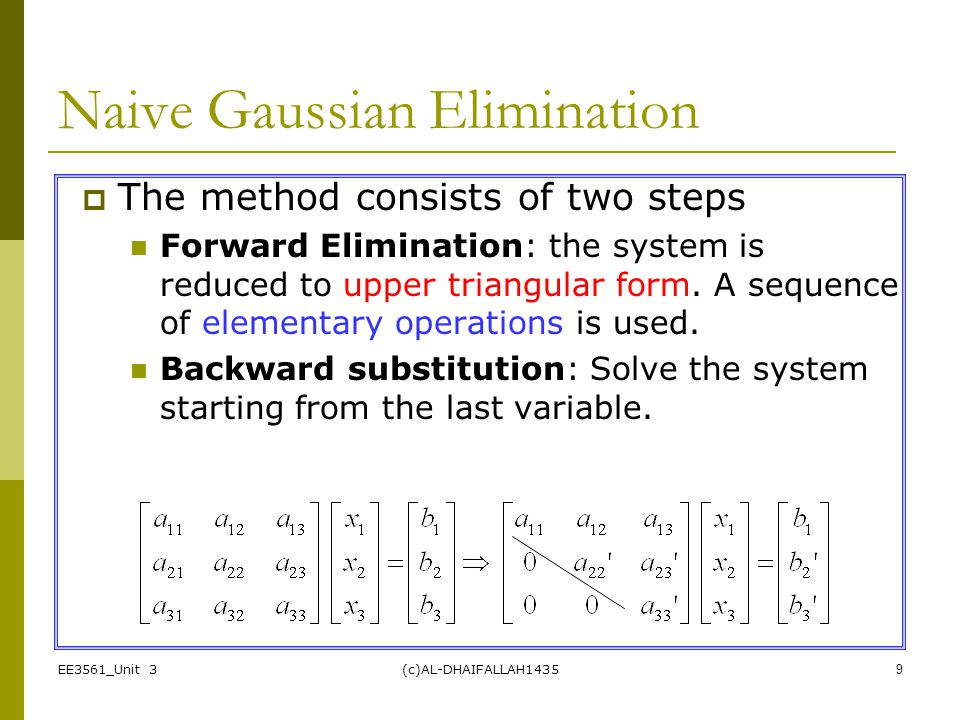 Naive Gaussian Elimination