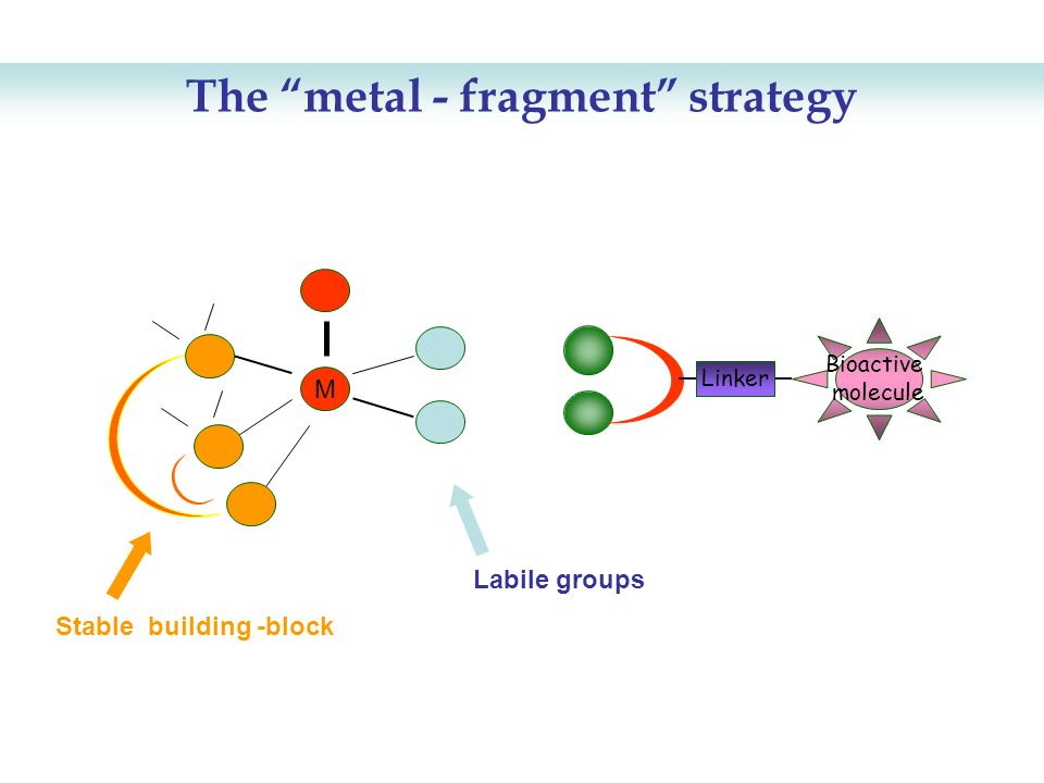 The metal - fragment strategy