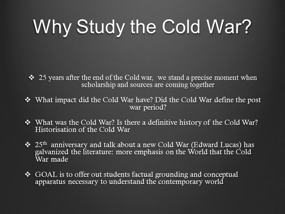 why the cold war ended Vladimir putin is not reviving the cold war rather, the us failed to end it when it had the chance.