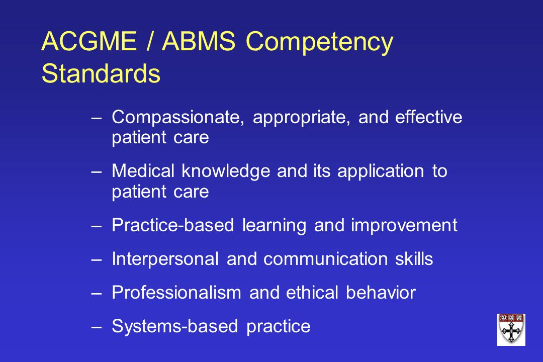 ACGME / ABMS Competency Standards