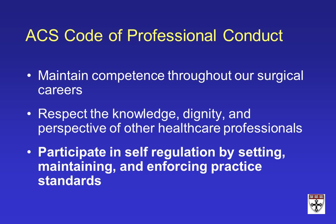 ACS Code of Professional Conduct