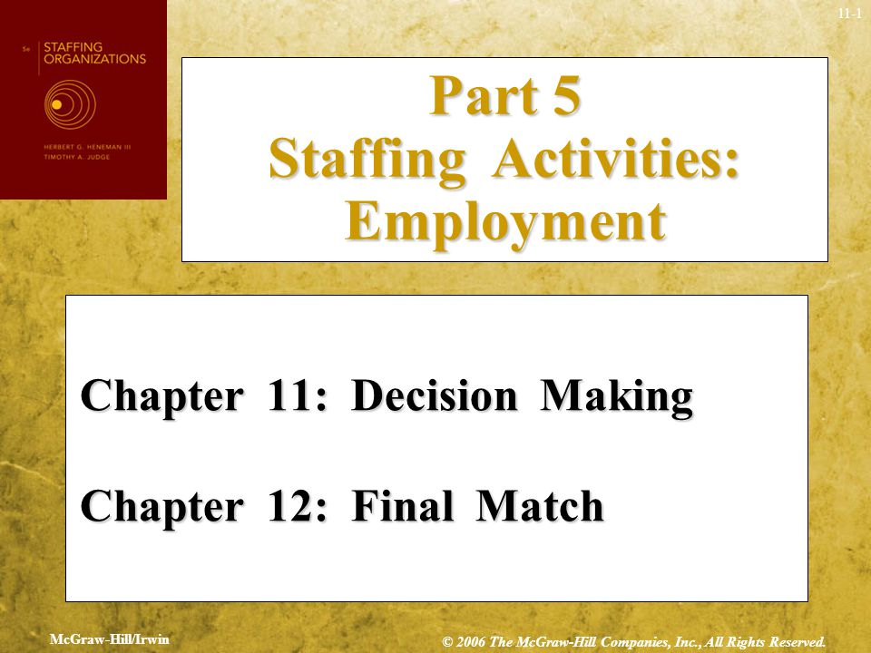 Part 5 Staffing Activities: Employment