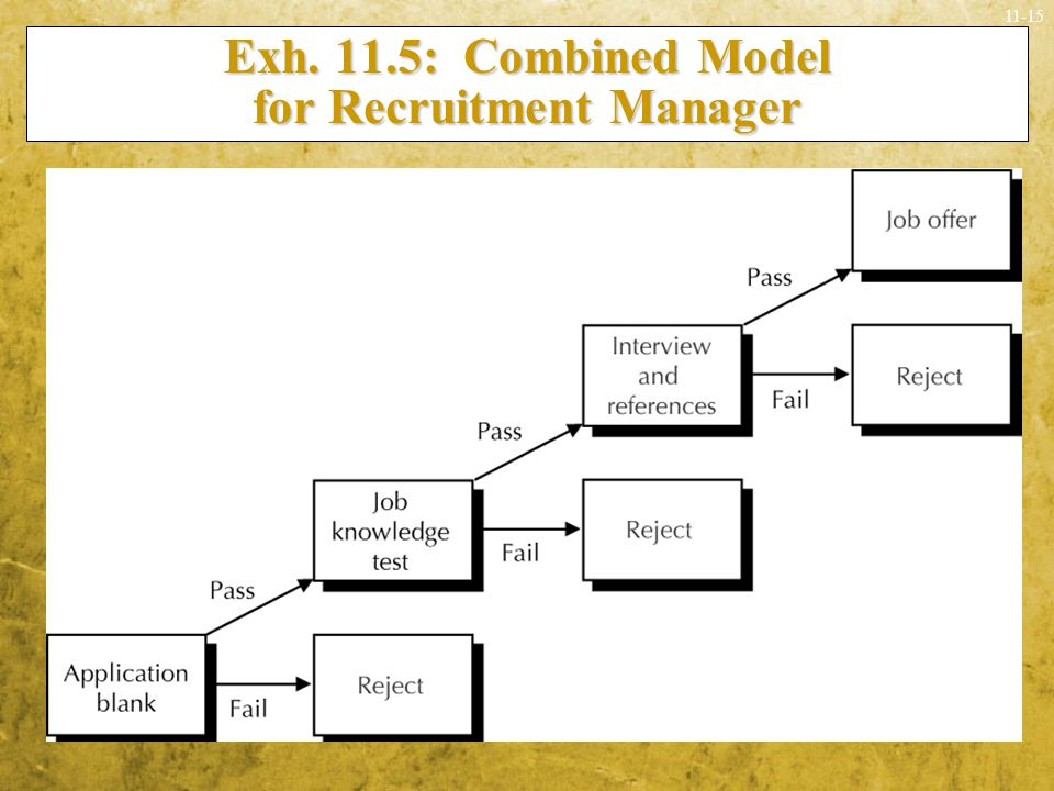 Exh. 11.5: Combined Model for Recruitment Manager