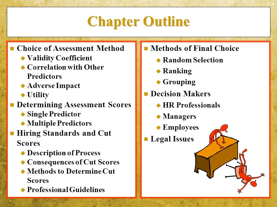 Chapter Outline Choice of Assessment Method