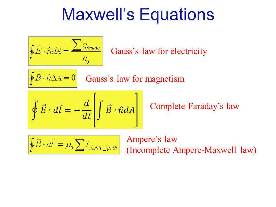 gauss law for magnetism and electricity We called the quantity on the left the electric flux \(\phi_e=\oint \vec{e}\cdot \vec{ da}\) well, there is a gauss's law for the magnetic field as well.