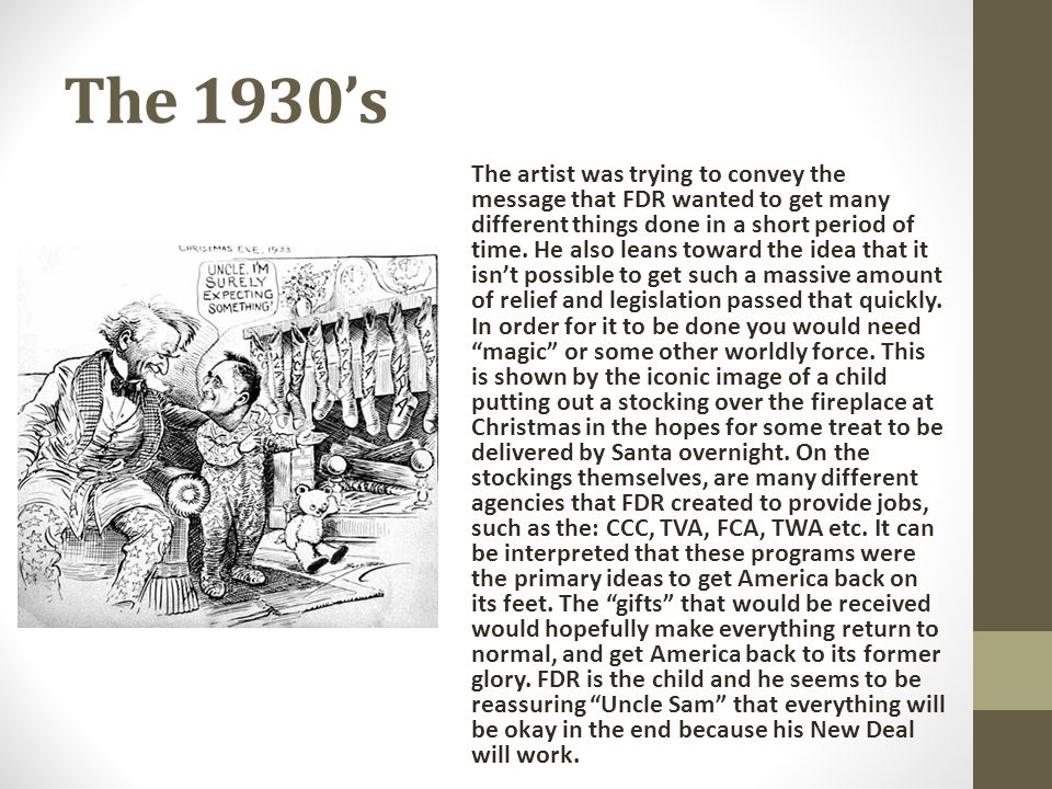 The 1930's