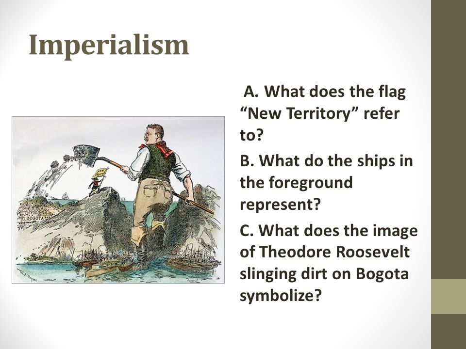 Imperialism A. What does the flag New Territory refer to