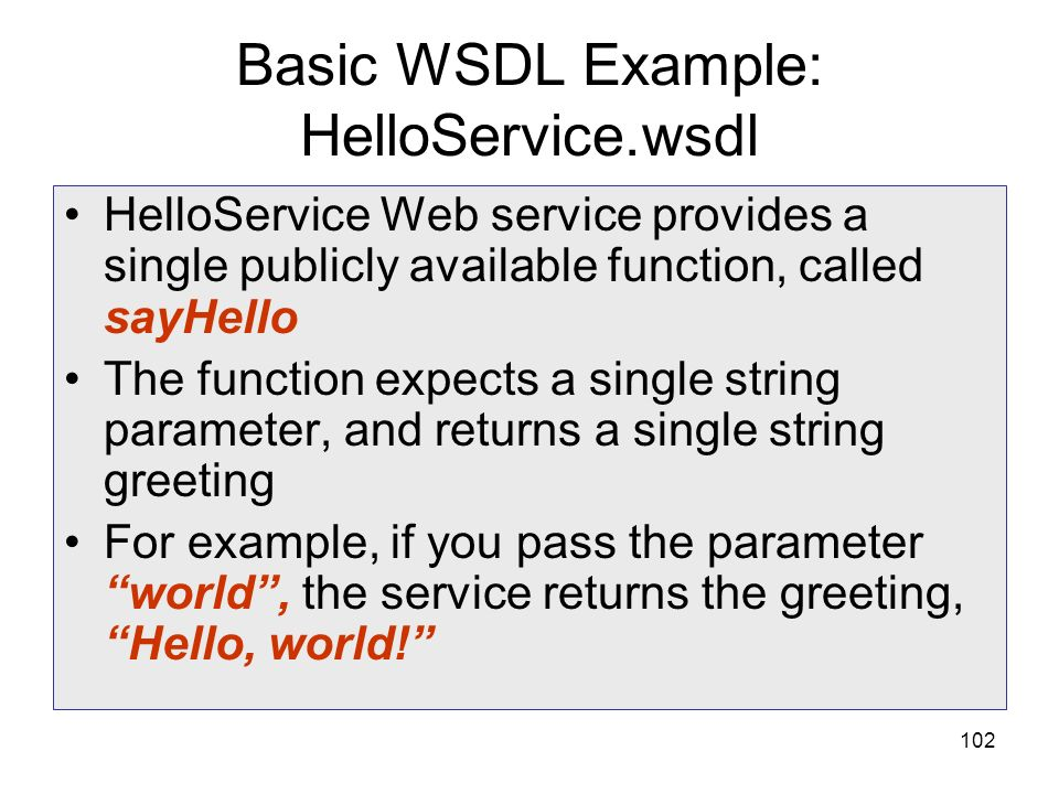 Basic WSDL Example: HelloService.wsdl