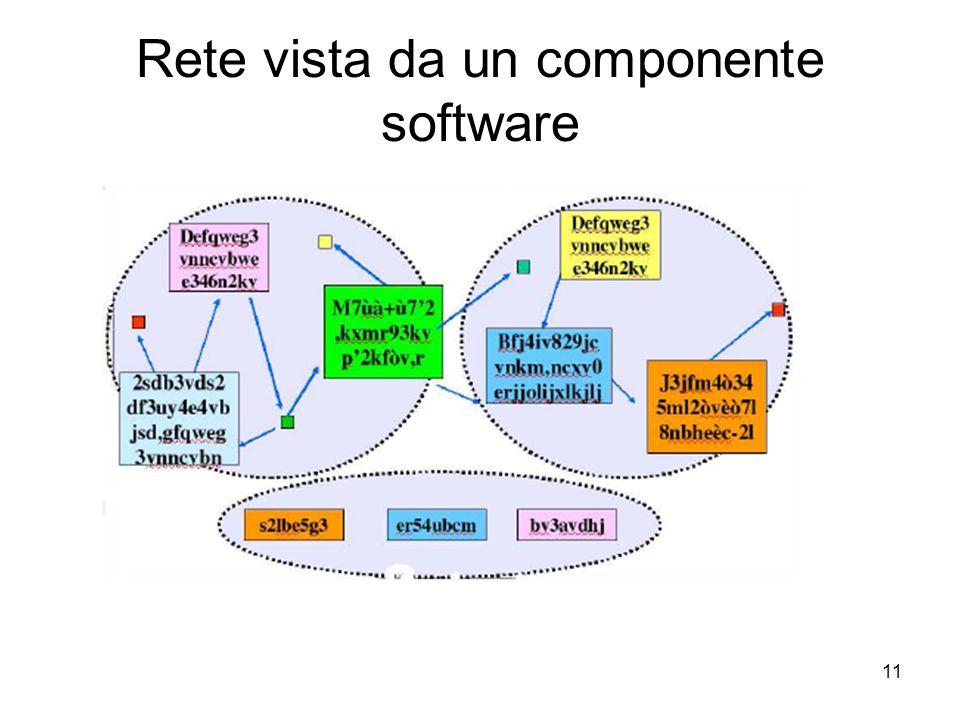 Rete vista da un componente software
