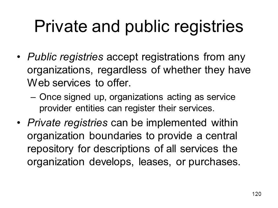 Private and public registries