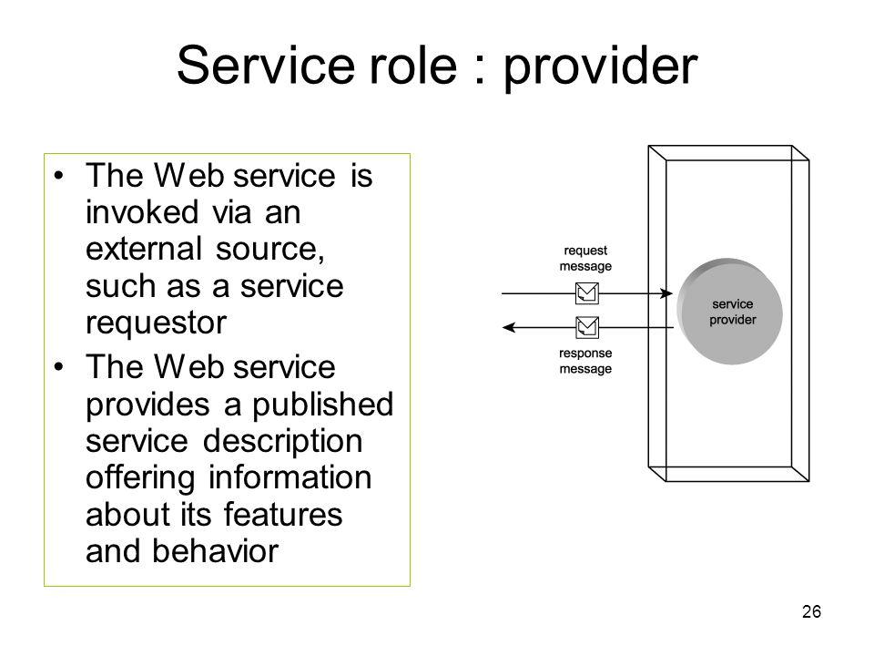 Service role : provider