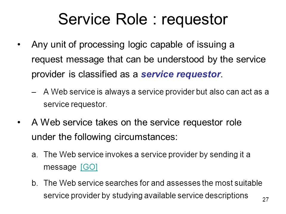 Service Role : requestor