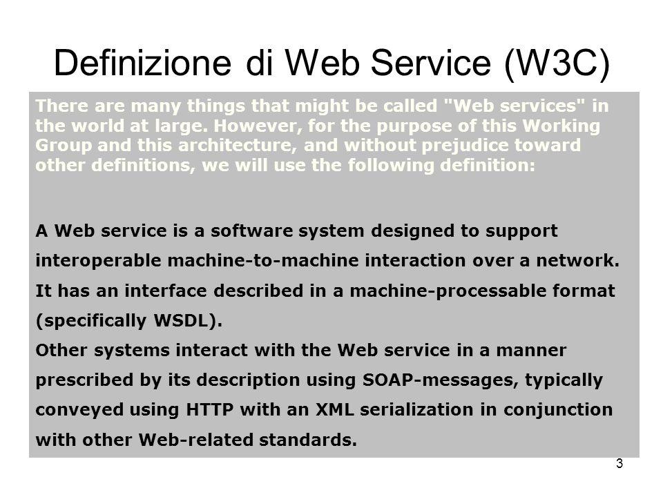 Definizione di Web Service (W3C)