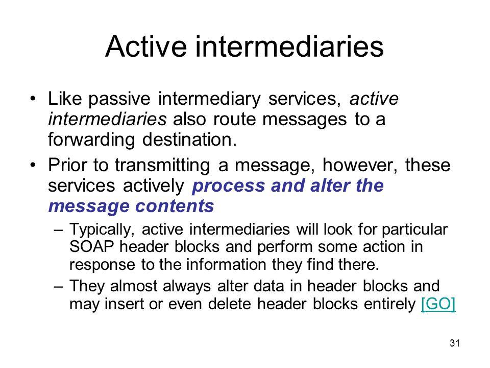Active intermediaries