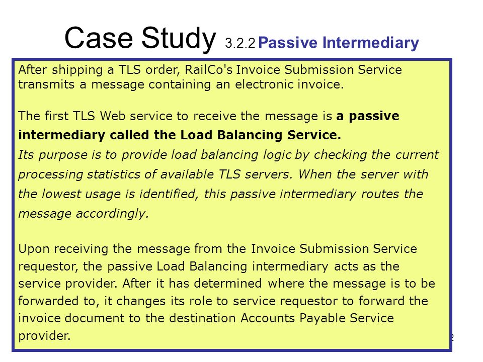 Case Study 3.2.2 Passive Intermediary
