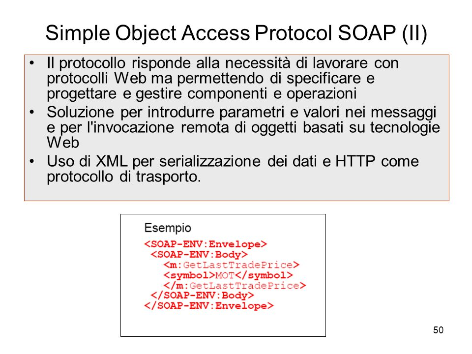 Simple Object Access Protocol SOAP (II)