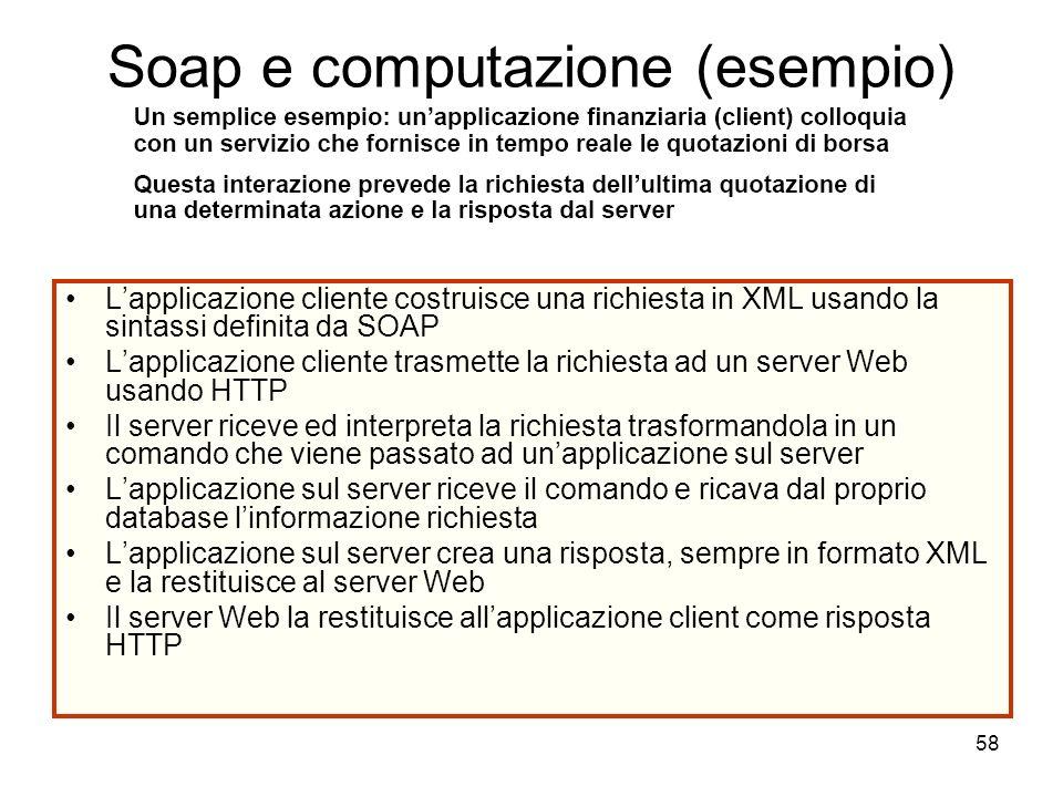 Soap e computazione (esempio)