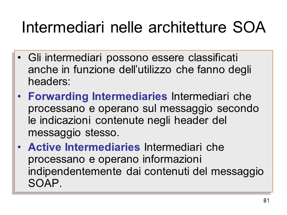 Intermediari nelle architetture SOA